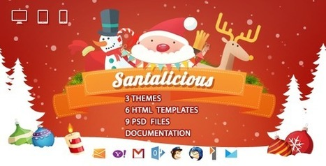 10 Premium Christmas HTML Email Templates December 2015 | Collection of creative themes and templates. | Scoop.it