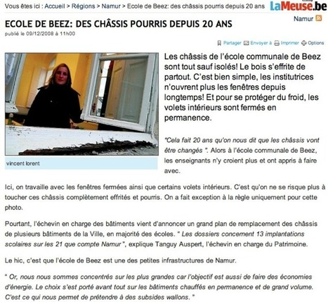 Ecole de Beez enfin une solution | ecoles namur | Scoop.it