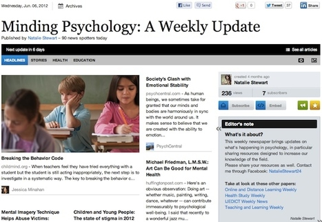June 6 - Minding Psychology: A Weekly Update | Psychology Professionals | Scoop.it