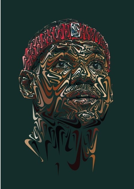 Un artiste crée des portraits d'athlètes uniquement avec la virgule du logo Nike | Graphic Design | Scoop.it