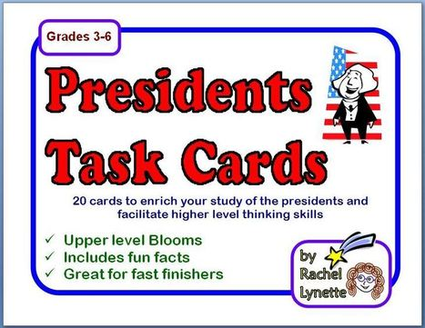 Presidents Task Cards - Fun facts and challenges! | Seasonal Freebies for Teachers | Scoop.it