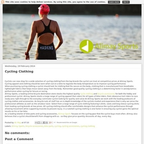 Alimay Sports: Cycling Clothing | Bike Parts | Scoop.it