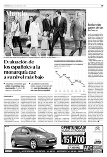 Evaluación de los españoles a la monarquía cae a su nivel más bajo | Mundo | La Tercera Edición Impresa | urdungarin | Scoop.it