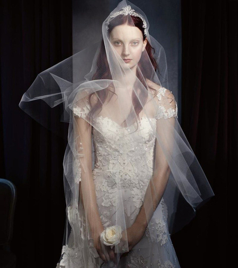 Monique Lhuillier 2014 Fall Winter Wedding Ad Campaign - Dresseseveryday   gbridal   Scoop.it