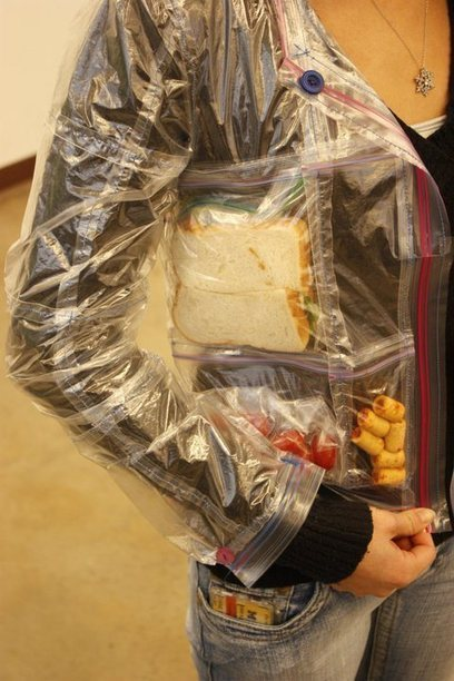 This hilarious, awesome Ziploc jacket is the most practical upcycled clothing we've ever seen | Sustain Our Earth | Scoop.it