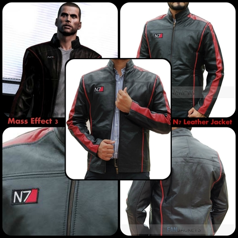 Mass Effect Jacket | Gaming N7 Leather Jacket | Mens Celebrity Fashion Jackets, Coat and Suits | Scoop.it