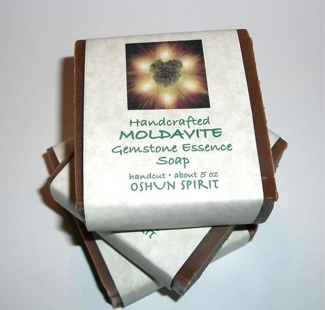 Moldavite Tektite Tachyon Soap Oshun Spirit | Friends Online Stores | Scoop.it