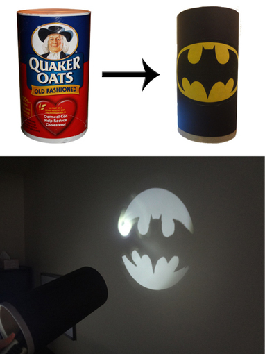 Oatmeal Tub Bat Signal | Craftspo | Scoop.it