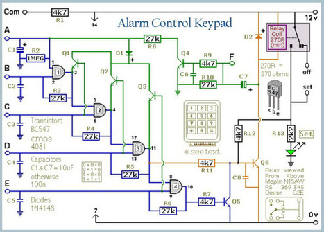 5 Digit Security Code Activated Relay Using Mostly Discrete Circuitry | Hackaday | Scoop.it