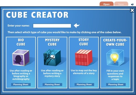 Cube Creator - Bio, Mystery, Story or Create-Your-Own | Didactics and Technology in Education | Scoop.it