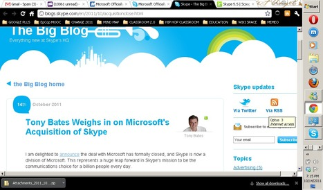 Skype - The Big Blog - Tony Bates Weighs in on Microsoft's Acquisition of Skype | nittaya | Scoop.it