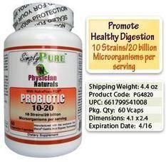 Probiotics : Probiotic 10/20 Nutra Flora Capsules Healthy Digestion | Super Curcumin | Scoop.it