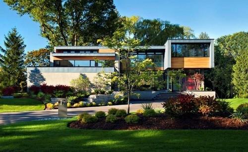 Maison béton et bois – Thorncrest House par Altius Architecture ...