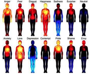 Mapping How Emotions Manifest in the Body | Let's Get Sex Positive | Scoop.it