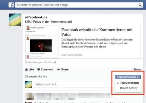 Postive Meldung für das Community-Management: Facebook macht die Kommentare wieder sortierbar | Social Media Consulting | Scoop.it