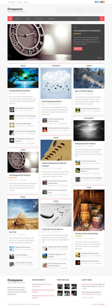 Compasso, WordPress Premium Masonry Magazine Theme | WP Download | technology | Scoop.it