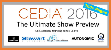 Slideshare: Julie Jacobson's Ultimate Preview of CEDIA 2016 - CEPro | Smart Home & Connected Things | Scoop.it