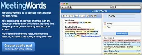MeetingWords: Realtime Collaborative Text Editing | Herramientas Web 2.0 para docentes | Scoop.it