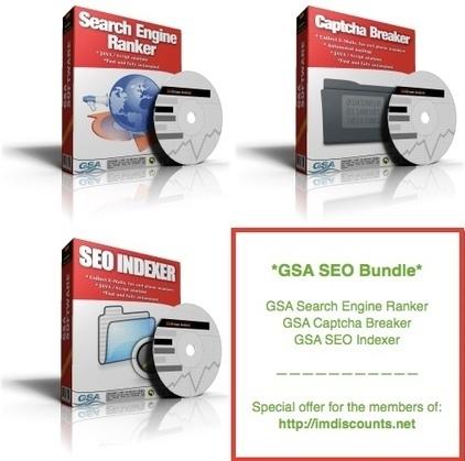 GSA SEO Bundle (SER, CB, SEO Indexer) » $197 Only! - IM Discounts | Internet Marketing Discounts | Scoop.it