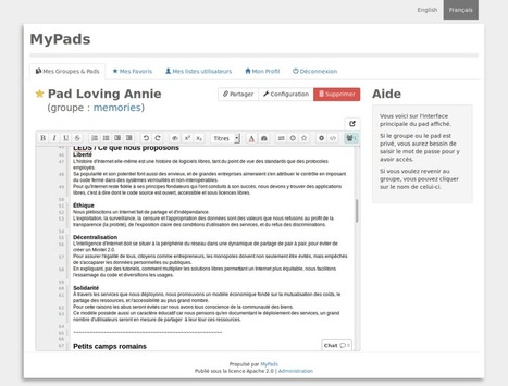 MyPads : l'alternative de Framasoft à Google Docs | Time to Learn | Scoop.it