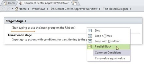 Run Any One of Parallel Actions in Parallel Block with SharePoint Designer 2013 Workflow | SharepointBI | Scoop.it