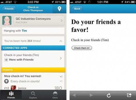 Check your friends in on foursquare with new connected app | There's Definitely an App for That. | Scoop.it