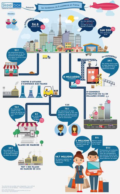 Infographie : les chiffres clés de l'e-commerce français en 2015 | Actualité de l'E-COMMERCE et du M-COMMERCE | Scoop.it