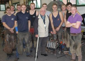 Myerscough College in England surprises 91-year-old master farrier | Hoofcare and Lameness | Scoop.it