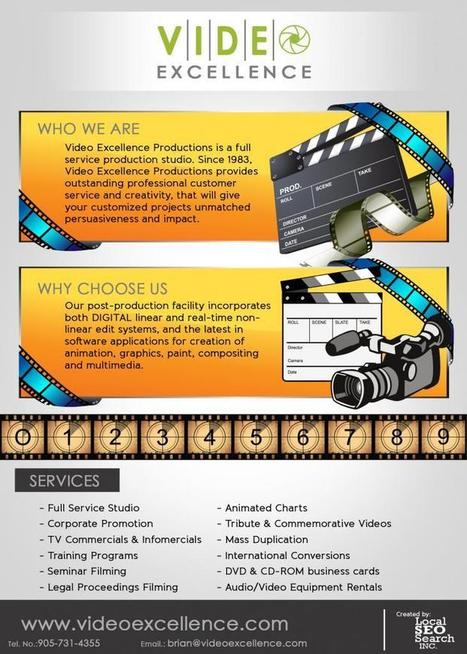 Video Excellence Infographic: Full Service Production Studio :: Video Production Guide | Video Production Tips | Scoop.it