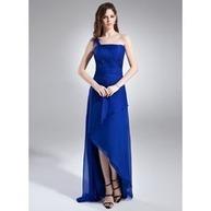 [€ 95.56] A-Line/Principessa Monospalla Asimmetrico Chiffona Abito da damigella con Increspature (020015935)   fantastic dresses   Scoop.it