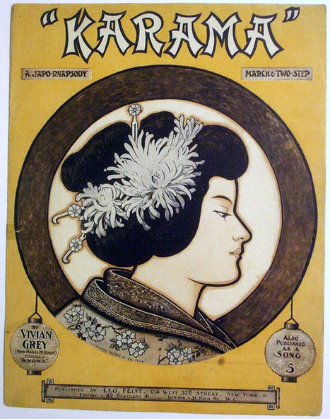 """Antique 1904 Sheet Music """"KARAMA"""" A JAPO-Rhapsody - March & Two-Step 