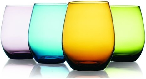 Prestige Colored Stemless Wine Glasses - Wineglass Shop | Creating A Home Wine Bar | Scoop.it