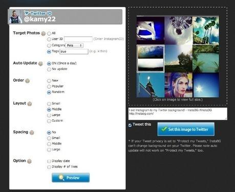 Come creare sfondi per Twitter usando le foto di Instagram con InstaBG   Twitter addicted   Scoop.it