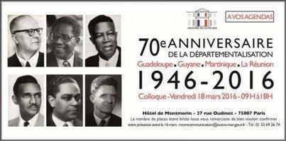1946 - 2016 : Colloque 70e anniversaire de la départementalisation | Veille institutionnelle Guadeloupe | Scoop.it
