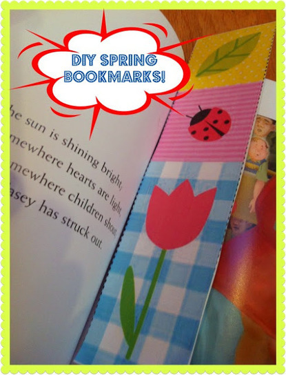Gummy Lump Toys Blog: DIY Spring Bookmarks for Kids (template included!) | Trabalhos Manuais no Jardim de Infância | Scoop.it