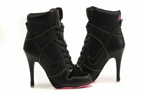 Nike Dunk SB High Heels Black/Pink hot sale | fashion collection | Scoop.it