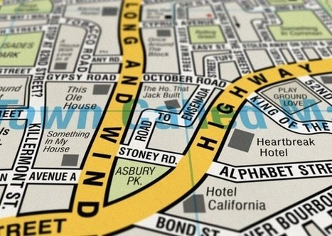 Cartography Love: Novelty Maps By Dorothy | The Pixellogo Blog ... | Cartography | Scoop.it