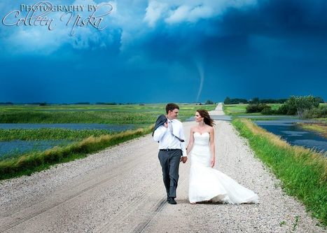 Tornado Backdrop Gives Couple the Most Badass Wedding Photos Ever | Silent Sports | Scoop.it