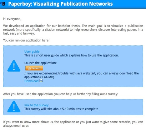 PaperBoy: Visualizing Publication Networks   Communicate...and how!   Scoop.it