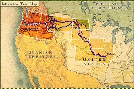 Lewis and Clark . Interactive Trail Map   PBS   westward expansion   Scoop.it