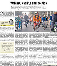 Walking, cycling and politics | Nepali Architecture & Urban Planning | Scoop.it