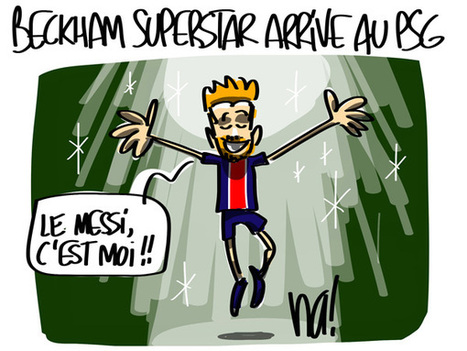 David Beckham superstar arrive au PSG | LAFORET MOLSHEIM | Scoop.it