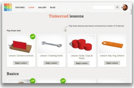TinkerCAD, aplicación de diseño 3D para el aula. ¿Por dónde empezar? | LabTIC - Tecnología y Educación | Scoop.it