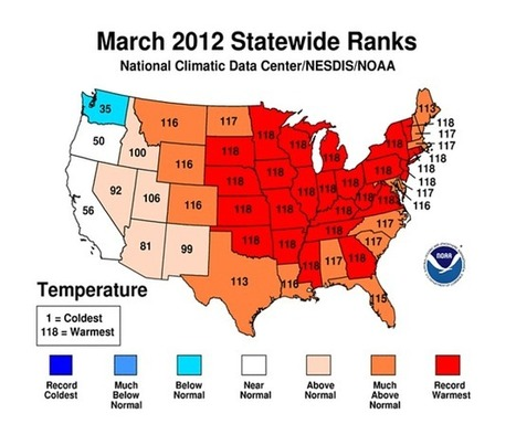 Global warming: US experienced warmest March ever   Amazing Science   Scoop.it