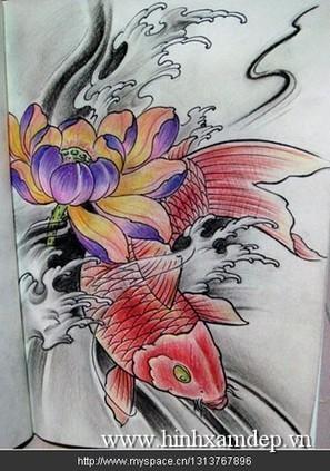 xăm hình nghệ thuật cá chép | Xăm Hình Nghệ Thuật Đẹp Nhất Tại Tattoo PT ART ở HCM | Scoop.it