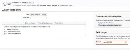 Créer un ebook depuis les articles de Wikipedia | Veille en info-documentation | Scoop.it