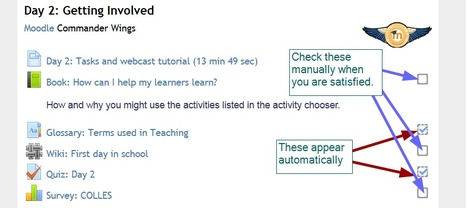 Moodle Q&A -- Why are check marks are not appearing on portions of courses I have completed?   CEET Meet (Dec.2013): What's New in Moodle 2.5?  ~ David LeBlanc   Scoop.it
