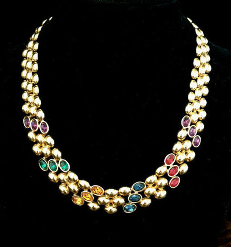 Vintage Napier Jeweled Necklace | Vintage Jewelry | Scoop.it