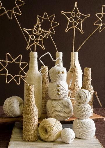Botellas decoradas con hilo sisal « Manualidades | Cocina y Vino | Scoop.it