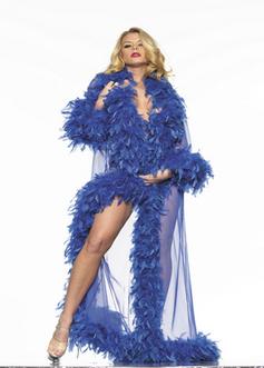 So Frou-Frou In Blue Marabou | Lingerie Love | Scoop.it